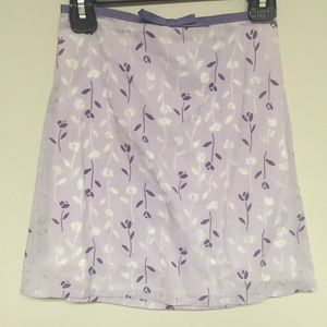 gorgeous purple floral skirt for girls